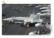 Sailors Push An Fa-18c Hornet Carry-all Pouch