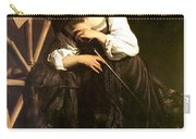 Saint Catherine Of Alexandria Carry-all Pouch by Caravaggio