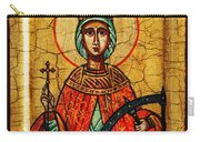 Saint Catherine Of Alexandria Icon Carry-all Pouch