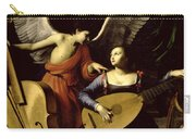 Saint Cecilia And The Angel Carry-all Pouch