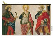 Saint Cecilia Between Saint Valerian And Saint Tiburtius With A Donor Carry-all Pouch