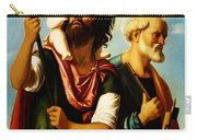 Saint Christopher With Saint Peter Carry-all Pouch