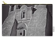Saint Francis In Black And White Carry-all Pouch