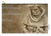 Saint Francis Of Assisi Carry-all Pouch by Dan Sproul