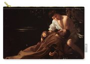 Saint Francis Of Assisi In Ecstasy 2 Carry-all Pouch by Caravaggio