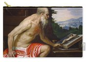 Saint Jerome In The Wilderness Carry-all Pouch