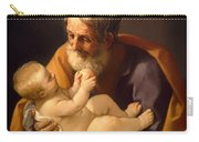 Saint Joseph And The Christ Child Carry-all Pouch