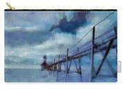 Saint Joseph Pier Lighthouse In Winter Carry-all Pouch by Dan Sproul