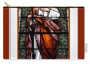 Saint Joseph  Stained Glass Window Carry-all Pouch by Rose Santuci-Sofranko