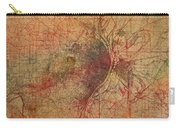 Saint Louis Missouri Street Map Schematic Watercolor On Old Parchment From 1903 Carry-all Pouch