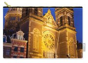 Saint Nicholas Church At Night In Amsterdam Carry-all Pouch