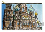 Saint Petersburg Russia The Church Of Our Savior On The Spilled Blood Carry-all Pouch by Irina Sztukowski