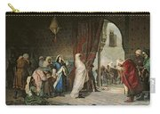 Salida Del Boabdil, At The Alhambra Oil On Canvas Carry-all Pouch