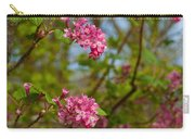 Salmon Berry Flowers Carry-all Pouch
