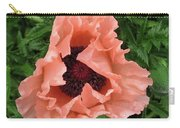 Salmon Colored Poppy Carry-all Pouch