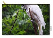 Salmon Crested Cockatoo Carry-all Pouch by Sennie Pierson