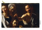 Salome Receives Head Of John The Baptist Carry-all Pouch by Michelangelo Merisi da Caravaggio