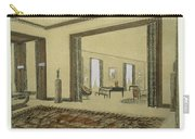 Salon, From Repertoire Of Modern Taste Carry-all Pouch by Jacques-Emile Ruhlmann