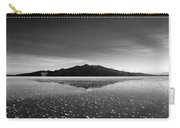 Salt Cloud Reflection Black And White Carry-all Pouch