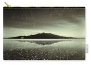 Salt Cloud Reflection Black And White Vintage Carry-all Pouch