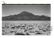 Salt Flat Surface Black And White Carry-all Pouch