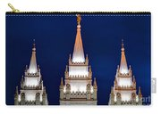 Salt Lake Lds Mormon Temple At Night Carry-all Pouch