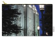 Salt Lake Mormon Temple At Night Carry-all Pouch