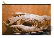 Salt Water Crocodile Skull Carry-all Pouch