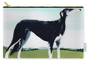 Saluki Cross Carry-all Pouch by Maggie Rowe