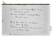 Samuel Taylor Coleridge (1772-1834) Carry-all Pouch