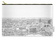 San Antonio Downtown Lineart Carry-all Pouch
