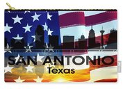 San Antonio Tx Patriotic Large Cityscape Carry-all Pouch