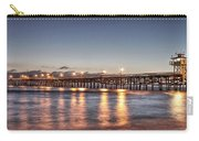 San Clemente Pier At Night Carry-all Pouch by Richard Cheski