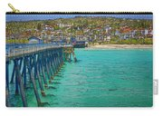 San Clemente Pier Carry-all Pouch by Joan Carroll