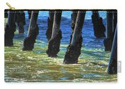 San Clemente Pier Carry-all Pouch by Mariola Bitner