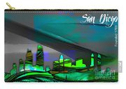 San Diego California Skyline Watercolor Carry-all Pouch