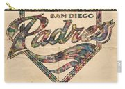 San Diego Padres Poster Vintage Carry-all Pouch