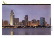 San Diego Skyline At Dusk Panoramic Carry-all Pouch by Adam Romanowicz