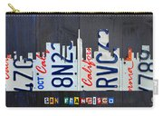 San Francisco California Skyline License Plate Art Carry-all Pouch