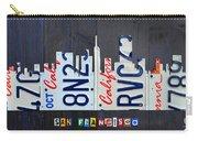 San Francisco California Skyline License Plate Art Carry-all Pouch