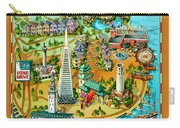 San Francisco Illustrated Map Carry-all Pouch