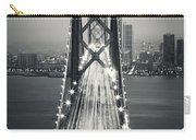 San Francisco - Oakland Bay Bridge Bw Carry-all Pouch