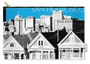 San Francisco Skyline Alamo Square - Ice Blue Carry-all Pouch