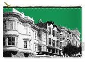 San Francisco Skyline Cable Car 2 - Forest Green Carry-all Pouch
