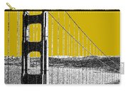 San Francisco Skyline Golden Gate Bridge 1 - Gold Carry-all Pouch