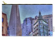 San Francisco Transamerica Pyramid And Columbus Tower View From North Beach Carry-all Pouch