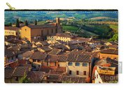 San Gimignano From Above Carry-all Pouch by Inge Johnsson