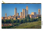 San Gimignano Skyline Carry-all Pouch by Inge Johnsson
