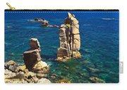 San Pietro Island - Le Colonne Cliff Carry-all Pouch