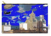 San Xavier Mission Brooding Clouds Post Card Ray Manley  Photo No Date-2013  Carry-all Pouch